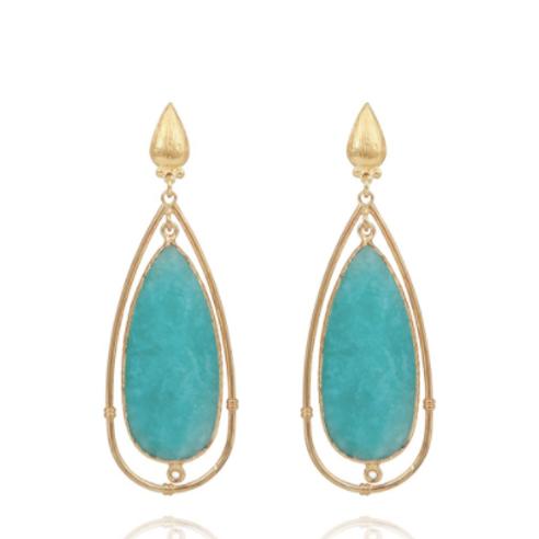 Boucles d'oreilles Serti Cage or GAS bijoux