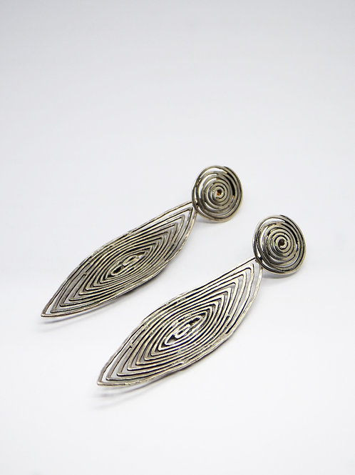 Boucles d'oreilles Longwave petit modèle argent GAS bijoux