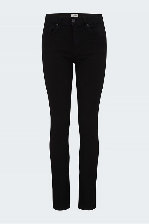 Skyla Mid Rise Cigarette Pant In Plush Black CITIZENS OF HUMANITY