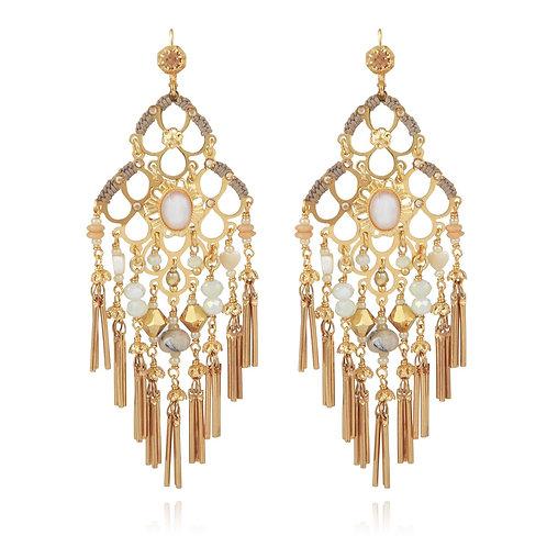 Boucles d'oreilles Reine mini pompon Gas bijoux