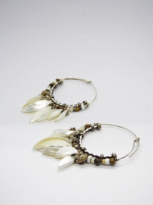 Boucles d'oreilles créoles Comedia Serti argent GAS bijoux