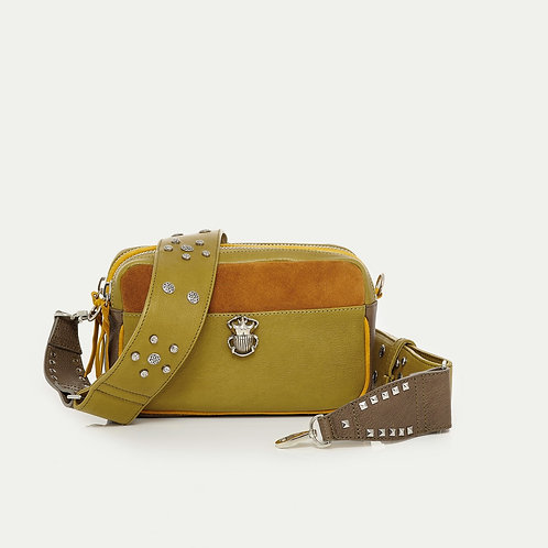 Sac Cuir Lily Moutarde CLARIS VIROT