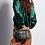 Thumbnail: Sac Claris Virot Python Charly Vert Bronze