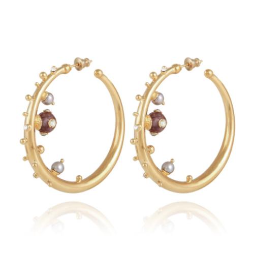 Boucles d'oreilles créoles Astra or GAS bijoux
