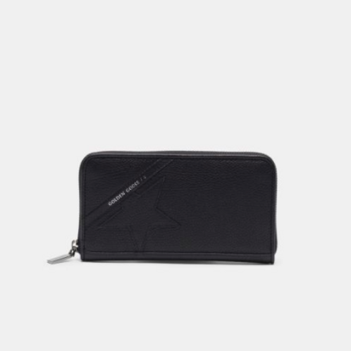 Golden Goose  Portefeuille Star Wallet large noir