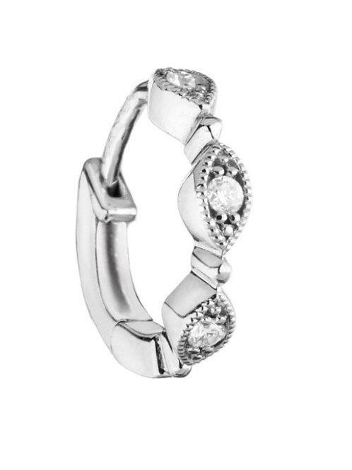 Mini Créole Yasmine Or Blanc et Diamants STONE PARIS