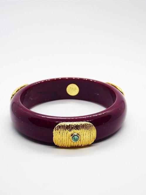 Bracelet Meknes acétate or - Bordeaux