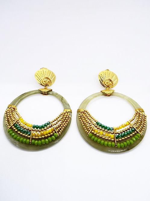 Boucles d'oreilles Spilia acétate or Gas bijoux