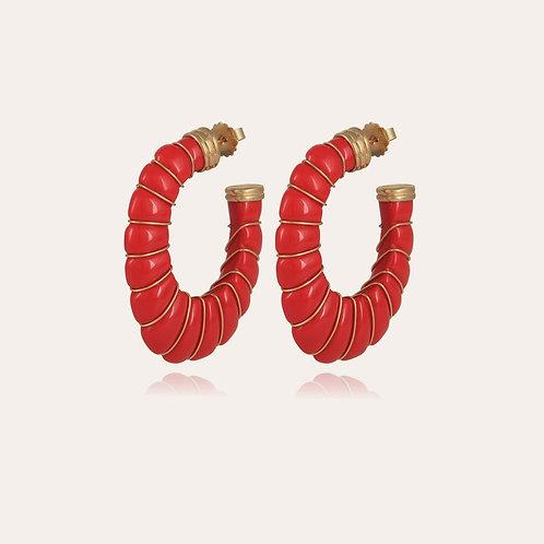 Boucles d'oreilles Cyclade or Corail  GAS BIJOUX