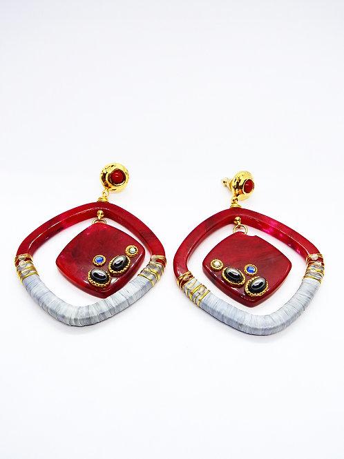 Boucles d'oreilles Aura acétate or GAS bijoux