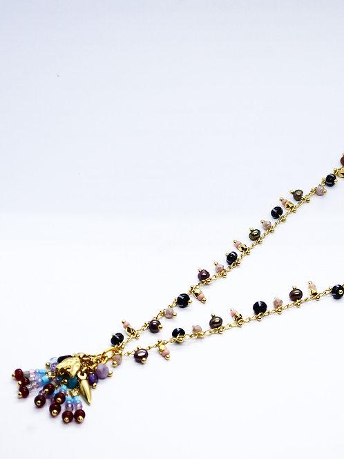 Collier Gipsette or GAS bijoux