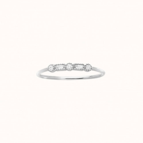 Serenity Bague Or Blanc et Diamants STONE PARIS