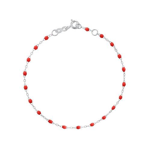 Bracelet coquelicot Classique Gigi Clozeau or blanc 17 cm