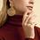 Thumbnail: Boucles d'oreilles Onde Gourmette or GAS bijoux