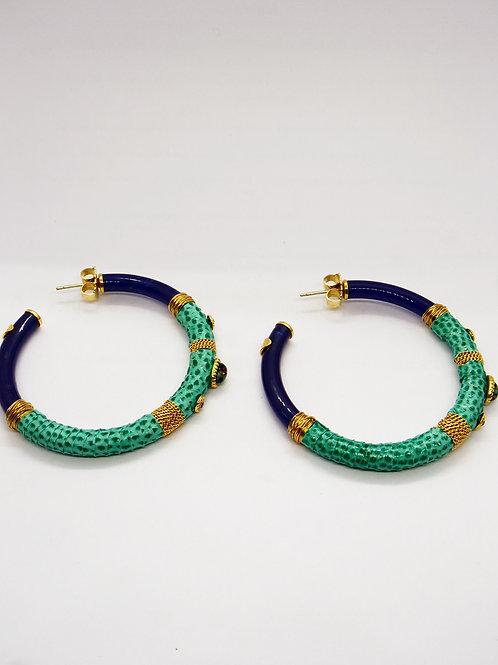 Boucles d'oreilles créoles Comporta acétate or GAS bijoux