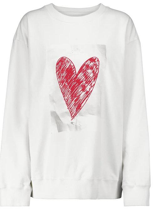 Sweat-shirt imprimé cœur MM6 MAISON MARGIELA