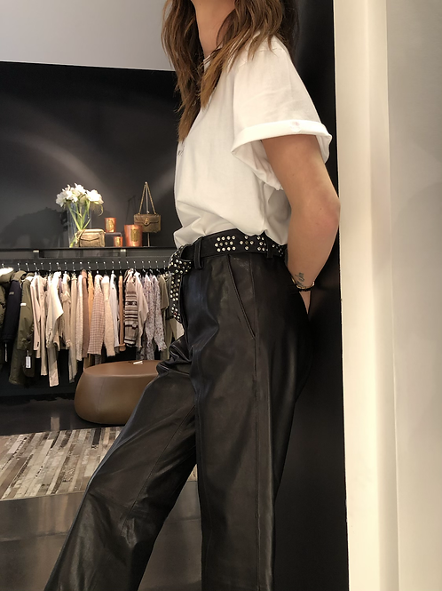 Pantalon Anine Bing cuir