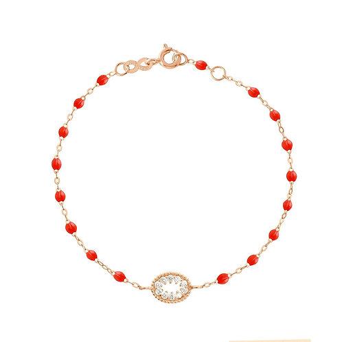 Bracelet corail Oeil de Pirate diamants GIGI CLOZEAU
