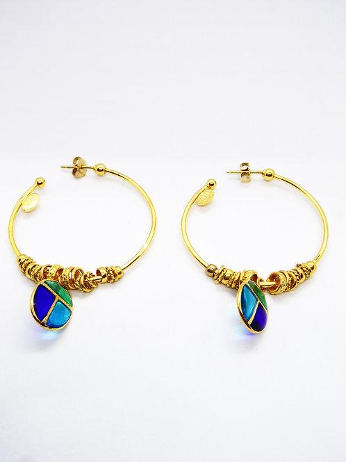 Boucles d'oreilles créoles Scarabeo or GAS bijoux