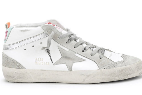 Baskets Mid Star Cuir Suédé Ice Argenté Golden Goose