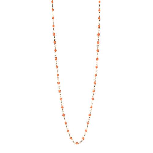 Sautoir orange fluo Classique Gigi Clozeau or rose 86 cm