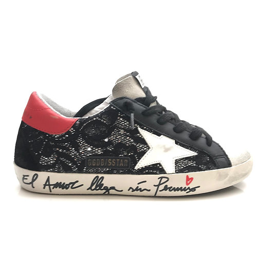 Sneakers Superstar Glitter Upper Leather Star Signature Golden Goose