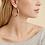 Thumbnail: Boucles d'oreilles créoles Astra or GAS bijoux