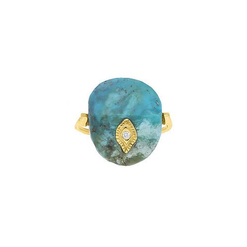 Arles Turquoise ring Pascale Monvoisin