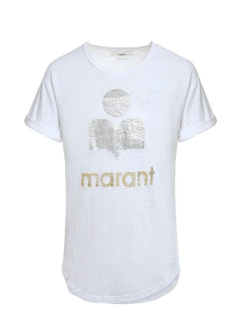 Tee-shirt Koldi Lin Blanc Argenté Isabel Marant Étoile