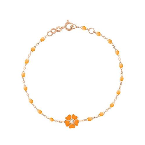 Bracelet mandarine Fleur diamant Gigi Clozeau or rose 17 cm