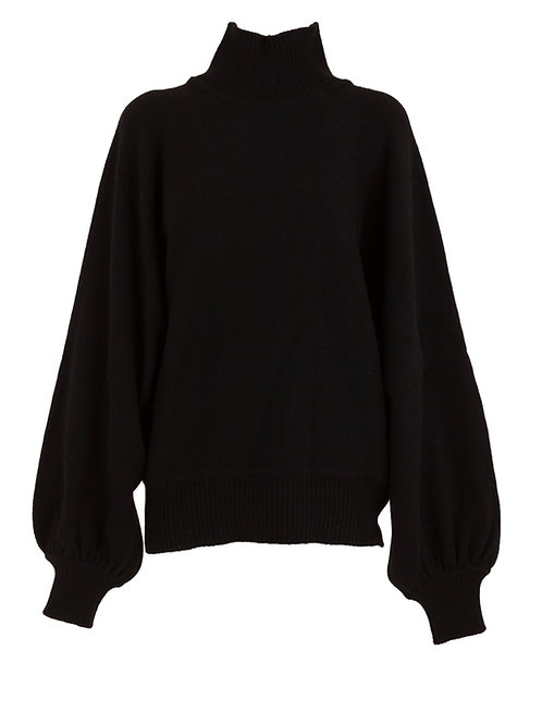 Pull Didi Col Roulé Laine Noir MADE IN TOMBOY