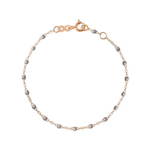 Bracelet gris souris Classique Gigi Clozeau or rose 19 cm
