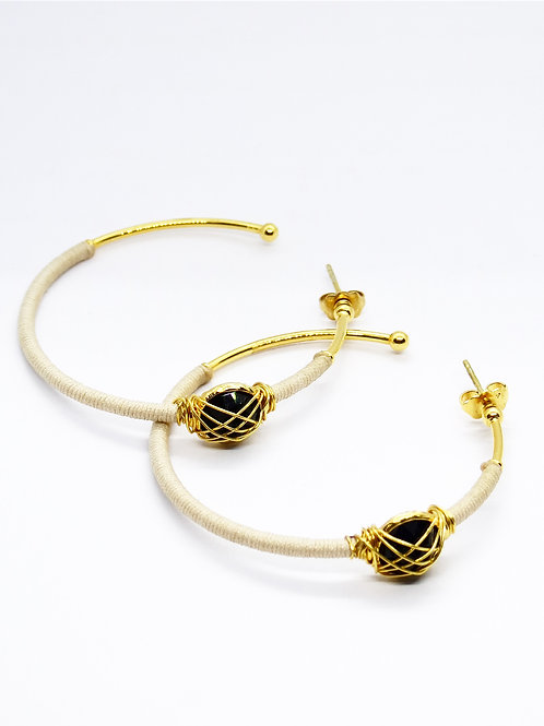 Boucles d'oreilles serti or