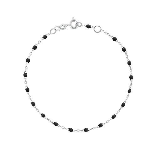 Bracelet noir Classique Gigi Clozeau or blanc 17 cm