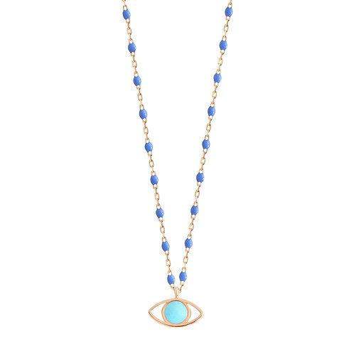 Collier Eye bleuet Gigi Clozeau