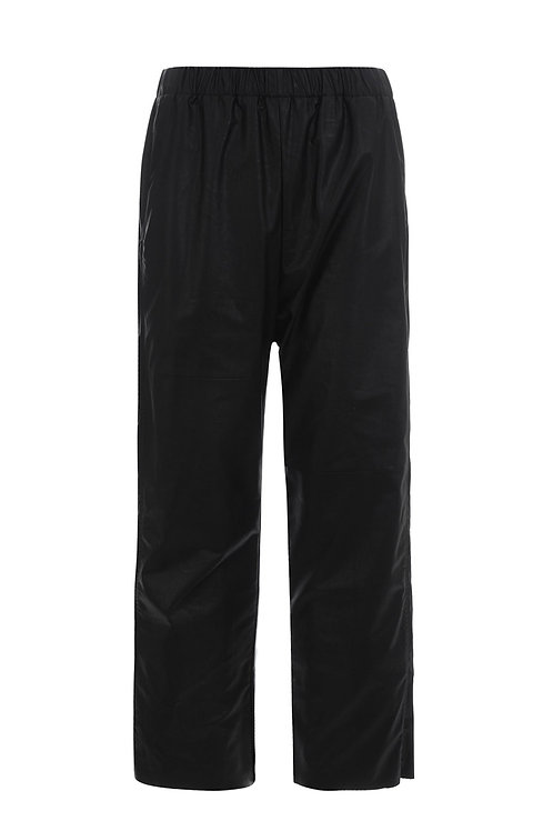 Pantalon en simili cuir noir MM6 MAISON MARGIELA