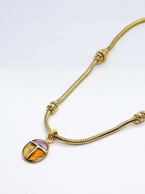 Collier Scarabée or GAS bijoux