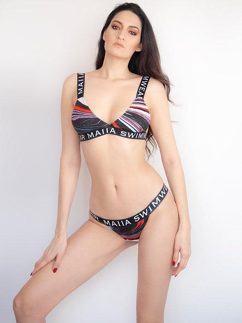 Maia Black Logo Bikini #3