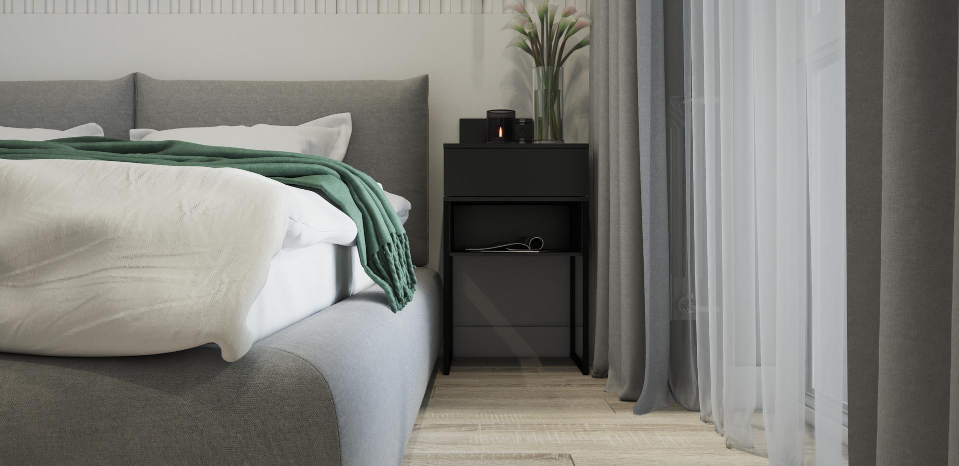 Bedroom in minimalism