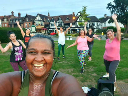 Zumba with Kat Henry in Master Park, Oxted, Surrey