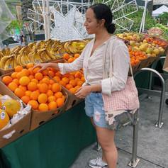 hannah at the market!