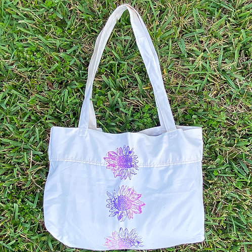 pillow case tote with Nature's Dye stamp