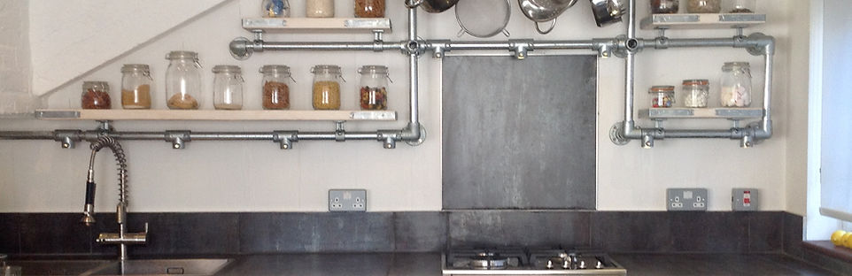 Industrial Style Kitchen Shelves