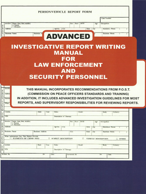 Advanced Investigative Report Writing Manual