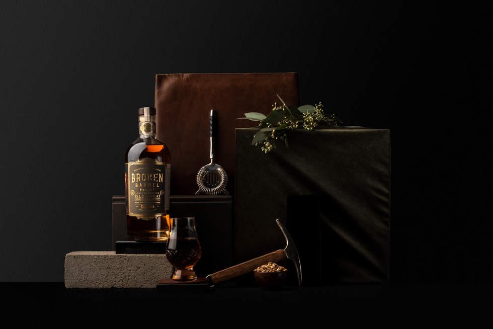 broken barrel whiskey styled photo