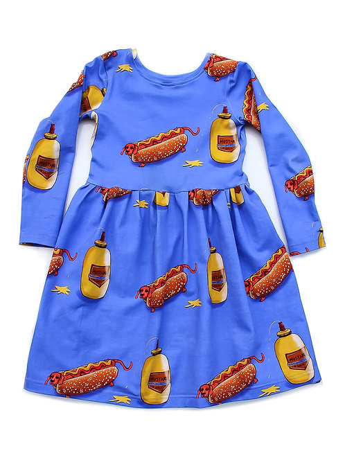 Hotdog and mustard dress