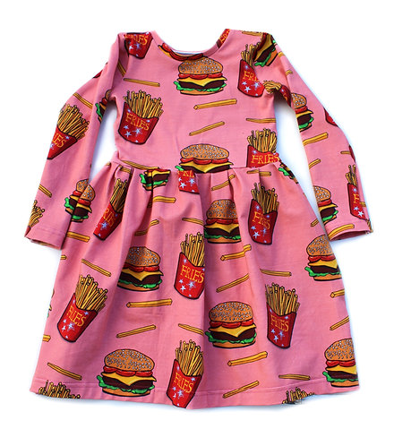 Burger and chips dress