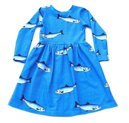 Blue sardine dress