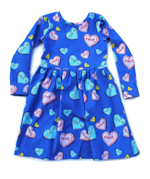 Love heart dress