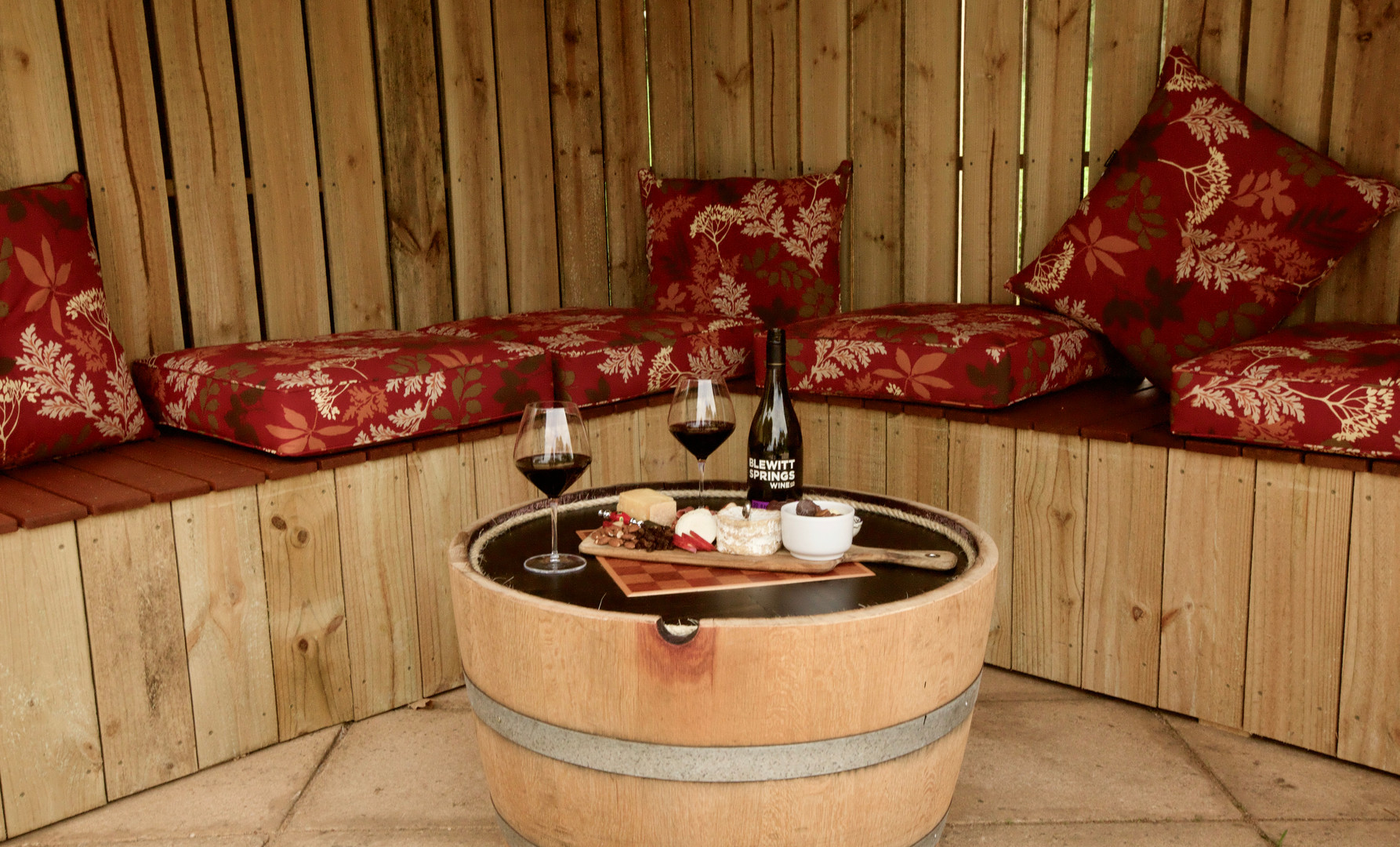 A place to sit and indulge